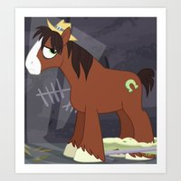 mlp Art Prints featuring MLP TROUBLESHOES CLYDE by Kalisourusrex