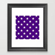 Stars (White/Indigo) Framed Art Print