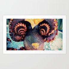 Octopus flower Art Print
