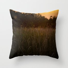 Sunset in the Fields Throw Pillow