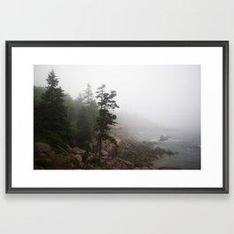Foggy Coast Framed Art Print