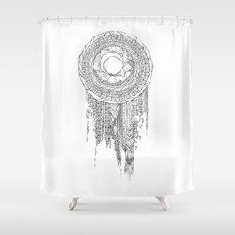 Shifting Moon Tide Dream Catcher Mandala Shower Curtain
