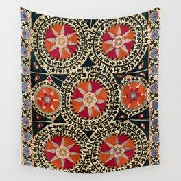 Katti Kurgan Suzani Uzbekistan Embroidery Print Wall Tapestry