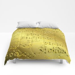 happy holiday Colorful design happy new year text in gold, festive, elegant gift Comforters
