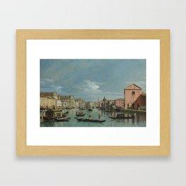 Venice: The Grand Canal facing Santa Croce by Bernardo Bellotto Framed Art Print