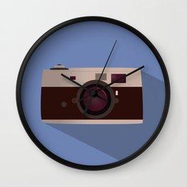 Vintage Camera flat design Wall Clock