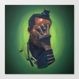 Untitled (soldier, green) Canvas Print