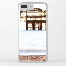 West Pier Ruins Clear iPhone Case
