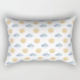 Sun and clouds  Rectangular Pillow