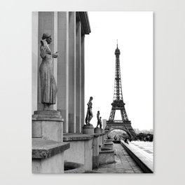 Trocadero Eiffel Tower Paris Canvas Print