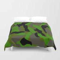 camouflage Duvet Covers featuring Camouflage by Justbyjulie