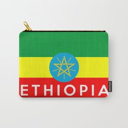 Ethiopia country flag name text Carry-All Pouch