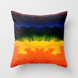 bold rainbow Throw Pillow