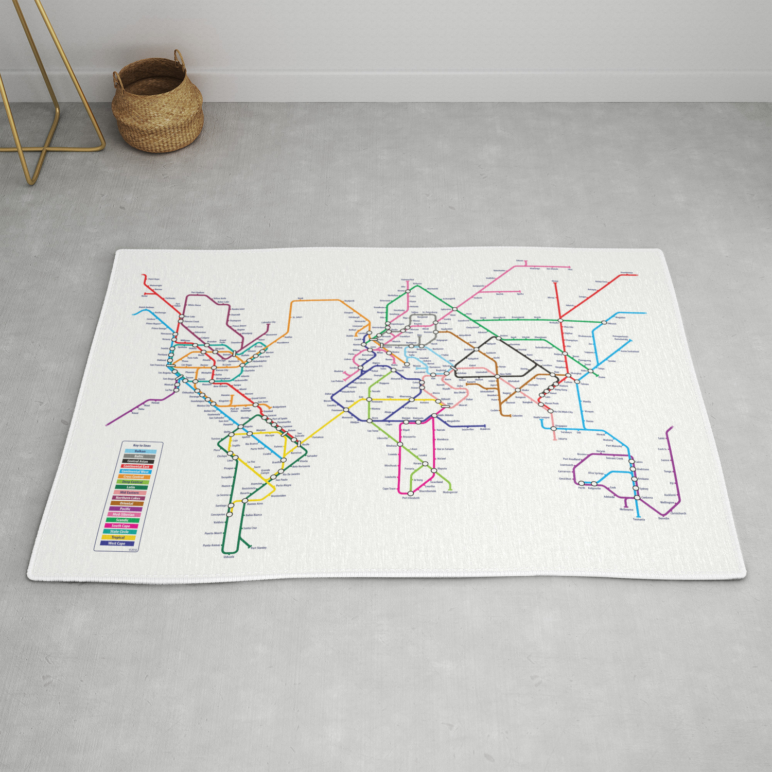 Creative Subway Map.World Metro Subway Map Rug By Artpause