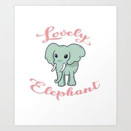 Lovely Elephant Big Forest Giant Mammal Animal Gift Art Print