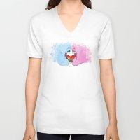 pride V-neck T-shirts featuring Pride by Riku Forsman