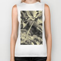 hibiscus Biker Tanks featuring Hibiscus by Fredy Mihaila