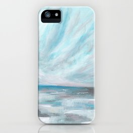 Trust - Dark and Moody Seascape iPhone Case