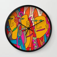 rabbits Wall Clocks featuring - rabbits - by Magdalla Del Fresto