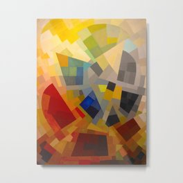 Otto Freundlich Komposition 1939 Mid Century Modern Abstract Colorful Geometric Painting Pattern Art Metal Print