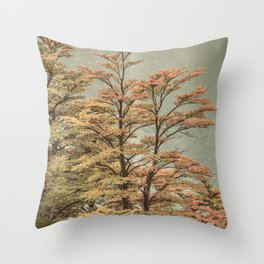 Nature Scene Colored Trees at Glacier Lake- Patagonia Argentina Throw Pillow