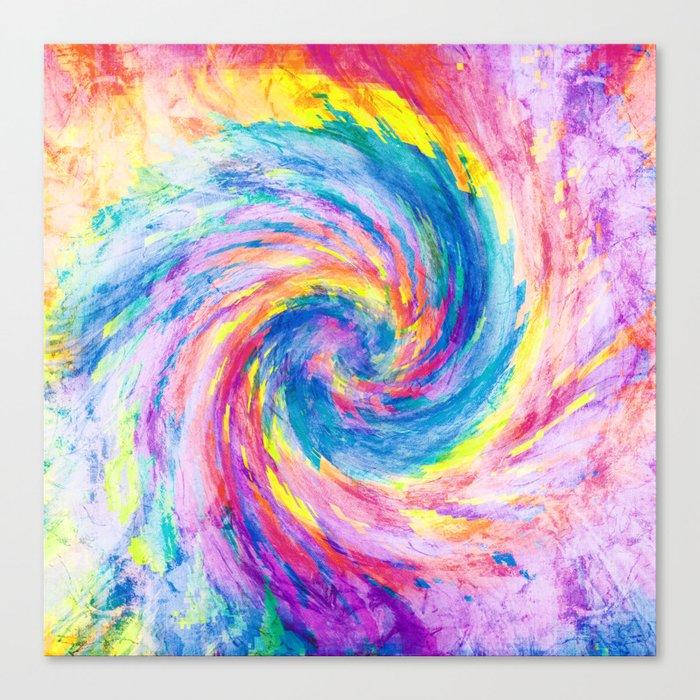 digital tie dye 15 Canvas Print