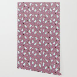 Eat Me, Drink Me -Pink Wallpaper