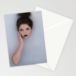 Lady in white water Stationery Cards