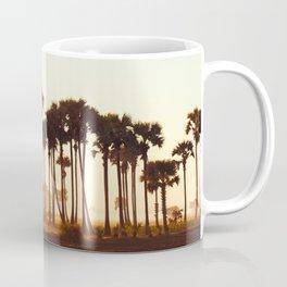 Palm Trees Bathing at Sunrise Coffee Mug
