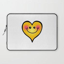 Happy Smiling Heart Shape Laptop Sleeve