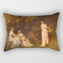 The Song 1881 By Sophie Gengembre Anderson | Reproduction Rectangular Pillow