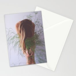 Her Way; Woman with Plants; Feminine Energy Stationery Cards