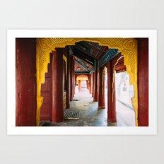 Yangon, Myanmar – The Gilded Pagoda Art Print