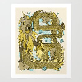Farosh, Dragon of Courage Art Print