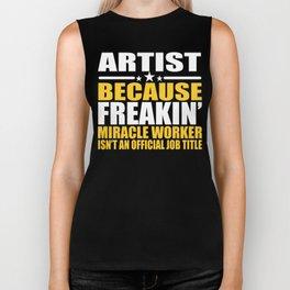 Funny Artist Job Title Cool Artist Gift Biker Tank