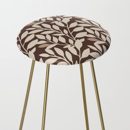 Leaves and Branches in Cream and Brown Counter Stool