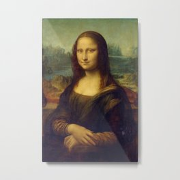 Mona Lisa - Leonardo da Vinci Metal Print