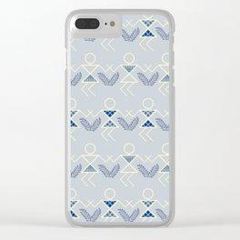 Blues Warli Print Clear iPhone Case