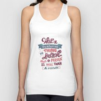 paper towns Tank Tops featuring Paper Towns: Treacherous Thing by Risa Rodil