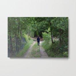 Sentiero nel bosco Metal Print