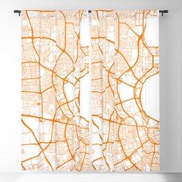 Street MAP Doha // Orange Blackout Curtain