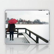 Copenhagen - Red Umbrella Laptop & iPad Skin