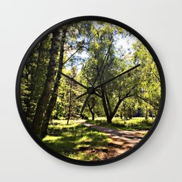Tree opening Wall Clock