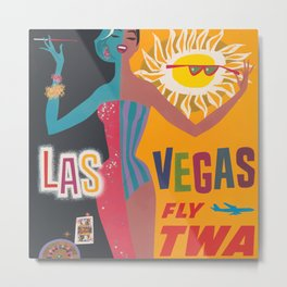 Vintage Las Vegas Poster Metal Print