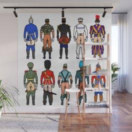 Uniform Butts Wall Mural