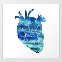 Oceanic Heart Art Print