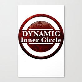 Dynamic duo inner circle Canvas Print