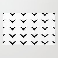 bats Area & Throw Rugs featuring Bats by Katrina Zenshin