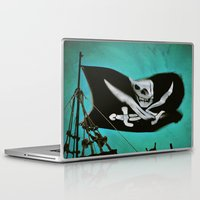 """pirate ship Laptop & iPad Skins featuring """"Pirate Ship"""" by Bella Blue Photography"""