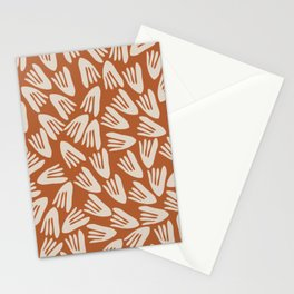 Papier Découpé Modern Abstract Cutout Pattern in Putty and Clay Stationery Cards